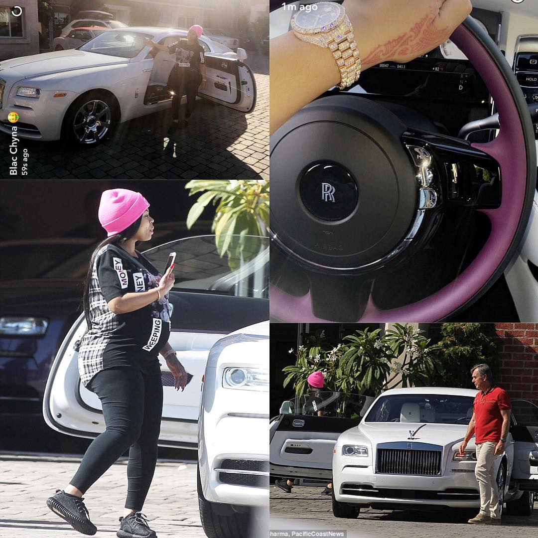 blac chyna gifts herself with a $400k rolls-royce just a month